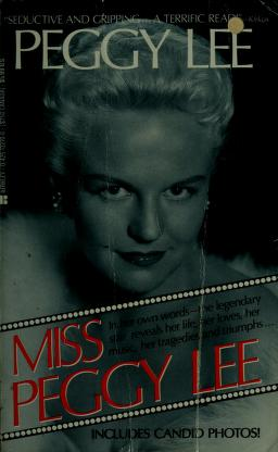 Cover of: Miss Peggy Lee | Peggy Lee