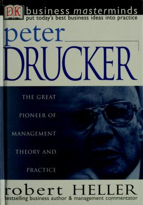 Cover of: Peter Drucker | Heller, Robert