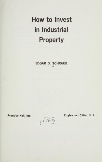 Real estate investment course by Edgar D. Schraub
